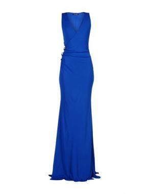Длинное платье ROBERTO CAVALLI. Цвет: темно-синий