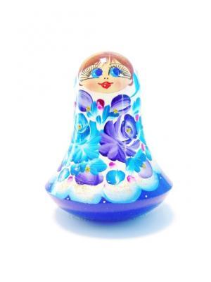 Неваляшка музыкальная - девочка Настя Taowa. Цвет: голубой, белый