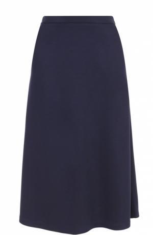 Расклешенная юбка-миди с карманами Etre Cecile. Цвет: синий