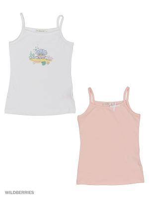 Набор их 2 маек Ritta Romani. Цвет: белый, розовый