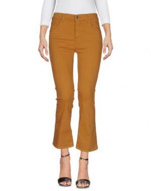 Джинсовые брюки VICOLO. Цвет: верблюжий
