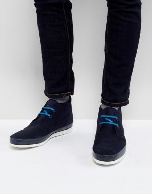 PS Paul Smith Темно-синие замшевые ботинки чукка Cleon. Цвет: темно-синий
