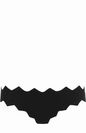 Плавки-бикини с фигурной отделкой Marysia. Цвет: черный