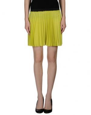 Мини-юбка ENZA COSTA. Цвет: светло-зеленый