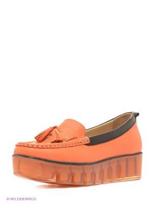Мокасины Benta. Цвет: оранжевый