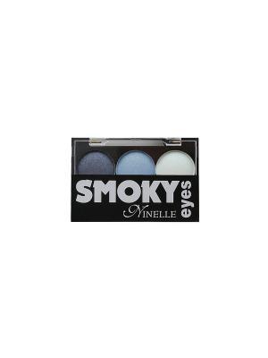 Тени для век Smoky eyes №25 Ninelle. Цвет: голубой, фиолетовый, белый