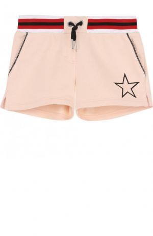 Хлопковые шорты на кулиске Givenchy. Цвет: розовый