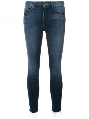 Укороченные джинсы скинни Mother. Цвет: синий