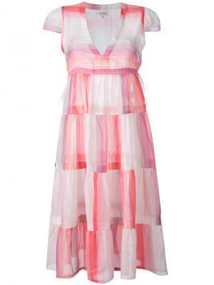 Платье в полоску Lemlem. Цвет: розовый и фиолетовый