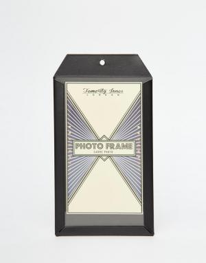 Temerity Jones Маленькая черная карманная рамка для фото. Цвет: мульти