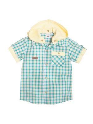 Рубашка для мальчика Bombili. Цвет: зеленый