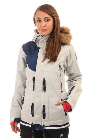 Куртка женская  Cooler 2 White Dark Blue Picture Organic. Цвет: серый