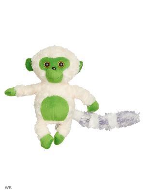 Мягкая игрушка Лемурчик 13.81.2 цвет белый, зелёный Malvina. Цвет: зеленый, белый