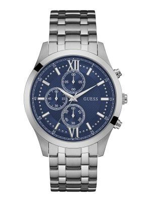 Часы GUESS. Цвет: серебристый, синий