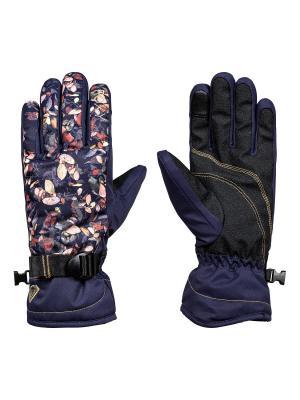 Перчатки ROXY. Цвет: темно-синий, персиковый, фиолетовый