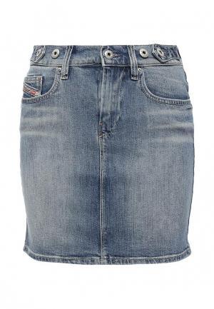 Юбка джинсовая Diesel. Цвет: синий