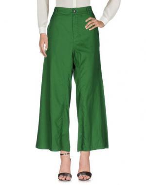 Повседневные брюки ZUCCA. Цвет: зеленый