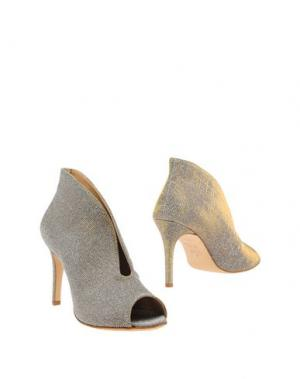 Ботинки L'ARIANNA. Цвет: серебристый