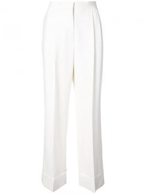 Широкие брюки Lian The Row. Цвет: белый