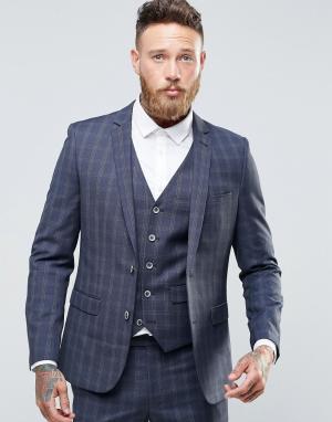 Harry Brown Приталенный пиджак в клетку. Цвет: серый