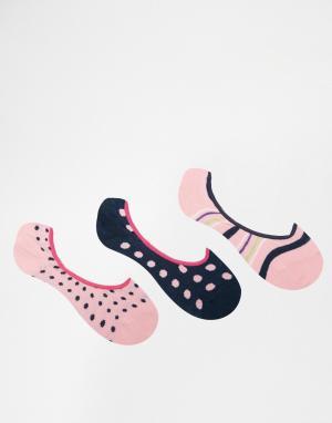 Penguin 3 пар носков розового/лаймового цвета