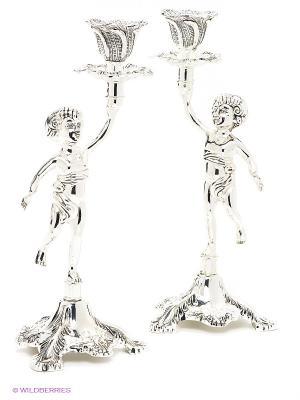 Набор подсвечников Два Ангела Marquis. Цвет: серебристый