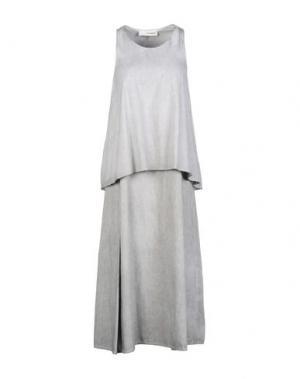 Платье длиной 3/4 UN-NAMABLE. Цвет: серый