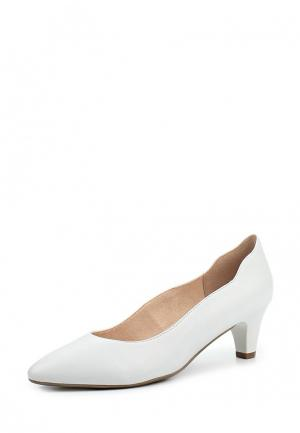 Туфли Caprice. Цвет: белый