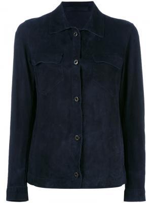 Куртка с нагрудными карманами Salvatore Santoro. Цвет: синий