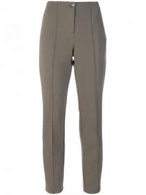 Укороченные брюки с высокой талией Cambio. Цвет: серый