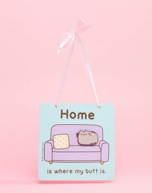 Pusheen Декорация на стену Home is Where My Butt. Цвет: мульти
