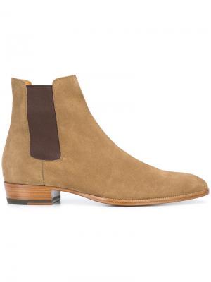Wyatt 30 chelsea boots Saint Laurent. Цвет: телесный