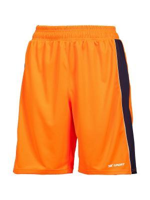 Женские баскетбольные игровые шорты Advance 2K. Цвет: оранжевый, белый, темно-синий