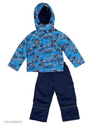 Комплект для мальчика демисезонный /куртка, полукомбинезон/ Rusland. Цвет: голубой