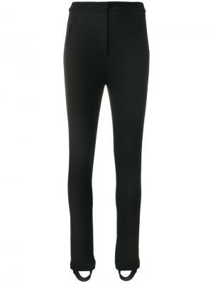 Эластичные брюки со штрипками Moncler. Цвет: чёрный