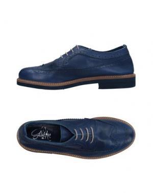 Обувь на шнурках GIACKO. Цвет: синий