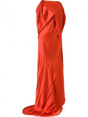Платье Origami Bianca Spender. Цвет: жёлтый и оранжевый