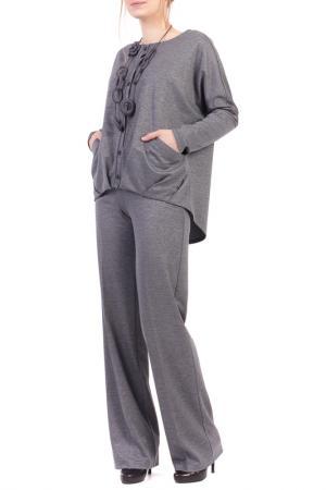 Костюм: блуза, брюки Adzhedo. Цвет: серый, меланж