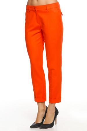Брюки SEVENTY. Цвет: оранжевый