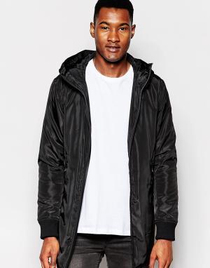 Izzue Нейлоновая куртка с капюшоном. Цвет: черный