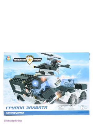 Конструктор Полицейский спецназ - Группа захвата (250 деталей) 1Toy. Цвет: черный, красный, белый