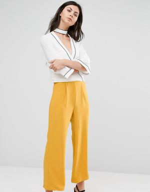 Alter Tall Укороченные брюки с широкими штанинами. Цвет: желтый