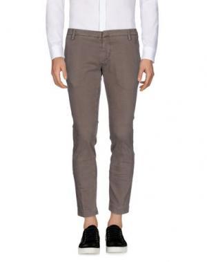 Повседневные брюки MASSIMO BRUNELLI. Цвет: голубиный серый