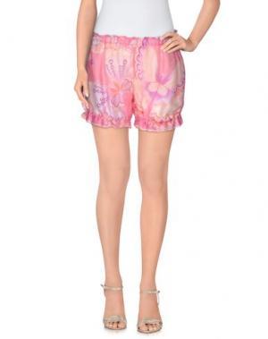 Повседневные шорты MISS NAORY. Цвет: светло-фиолетовый