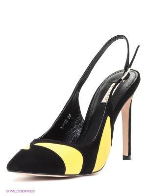 Туфли Vitacci. Цвет: черный, желтый