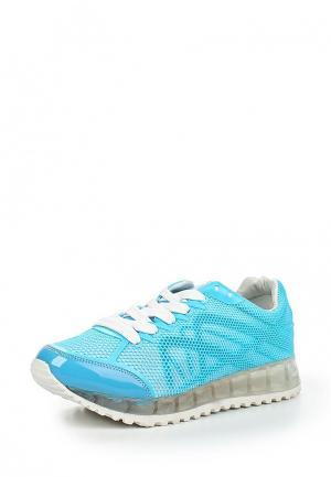 Кроссовки Damerose. Цвет: голубой