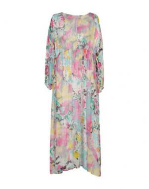 Длинное платье 120% LINO. Цвет: розовый
