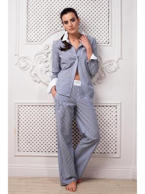 Пижама Laete. Цвет: голубой