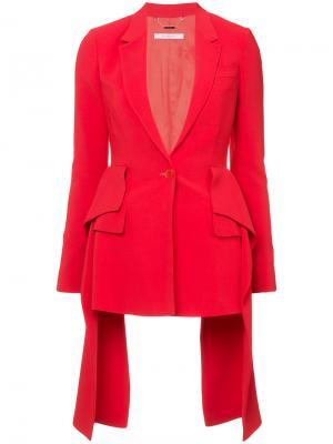 Приталенный блейзер Givenchy. Цвет: красный
