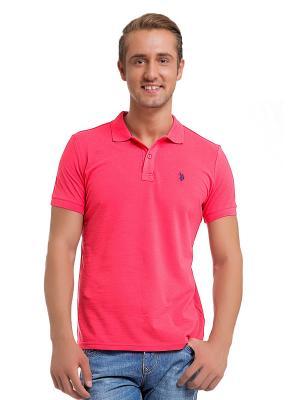 Футболка-поло U.S. Polo Assn.. Цвет: красный, розовый